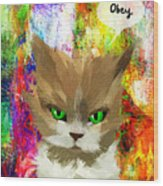 Goddess Santia As A Cat 687 Wood Print