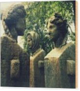 Goddess Statues Wood Print