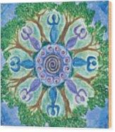 Goddesses Dancing Wood Print
