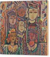 Gods And Angels Wood Print