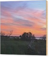 God's Artistry On Pamlico Sound Wood Print