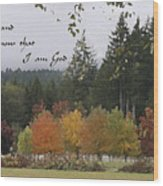 Gods Autumn Masterpiece Wood Print