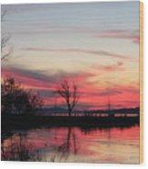 God's Hand On The Lake Wood Print