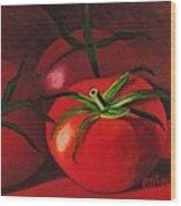 God's Kitchen Series No 3 Tomato Wood Print