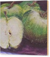 Gods Little Green Apples Wood Print