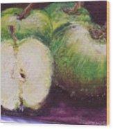 Gods Little Green Apples Wood Print