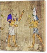 Gods Of Ancient Egypt Wood Print