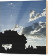 God's Rays At La Fenetre Wood Print