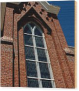 Gods Window St. Mary's In The Mountains Catholic Church Wood Print