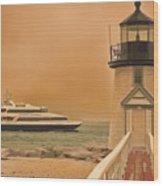 Godspeed At Brant Point Nantucket Island Wood Print