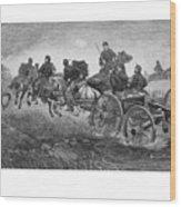 Going Into Battle - Civil War Wood Print