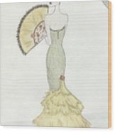 Going To The Ball Wood Print by Christine Corretti