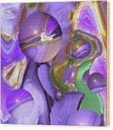 Orbs Of Light - Abstract Iris Marbles Wood Print