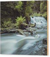Goitstock Mill Waterfall  Wood Print
