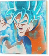 Goku In Dragon Ball Super  Wood Print