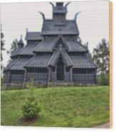 Gol Stave Church Wood Print