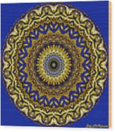 Gold And Sapphires  Wood Print