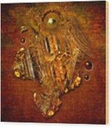 Gold Angel Wood Print