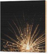 Gold Bloom Wood Print