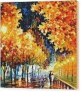 Gold Boulevard Wood Print