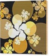 Gold Brown Spheres Wood Print