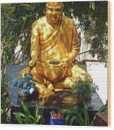 Gold Buddha 4 Wood Print
