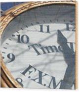 Gold Clock Wood Print