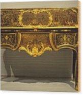 Gold Desk Wood Print