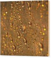 Gold Drops Wood Print