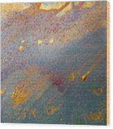 Gold Dust Abstract Painting Wood Print