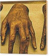Gold Fingers Wood Print