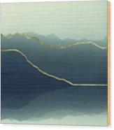 Gold Framed Alps Wood Print
