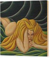 Seduction In Swirls Wood Print