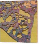 Gold Leaf 1 Wood Print