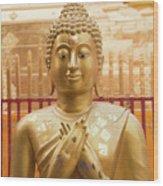 Gold Leaf Buddha Wood Print