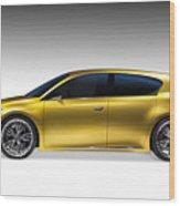 Gold Lexus Lf-ch Hybrid Car Wood Print