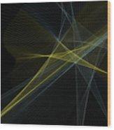 Gold Mine Computer Graphic Line Pattern Wood Print