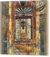 Gold Mine Gas Pump Wood Print