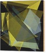 Gold Mine Polygon Pattern Wood Print