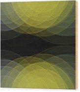 Gold Mine Semi Circle Background Horizontal Wood Print