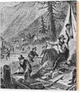 Gold Mining, 1853 Wood Print