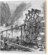 Gold Mining, 1860 Wood Print