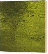 Gold Rain Droplets Wood Print