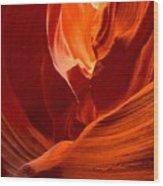 Gold Red And Orange Abstract Wood Print