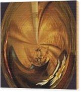 Gold Satin Wood Print by Marsha Heiken