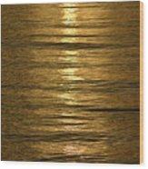 Gold Sea Wood Print