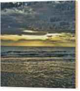 Gold Skies Wood Print