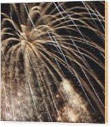 Gold Spangles Wood Print