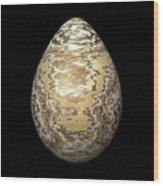 Gold-speckled Egg Wood Print