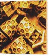 Gold Treasures Wood Print